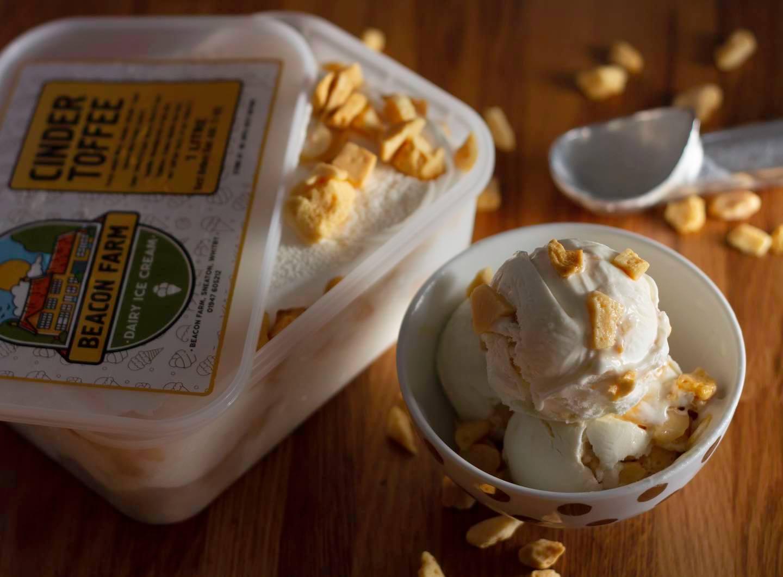 Cinder toffee ice cream | Beacon Farm