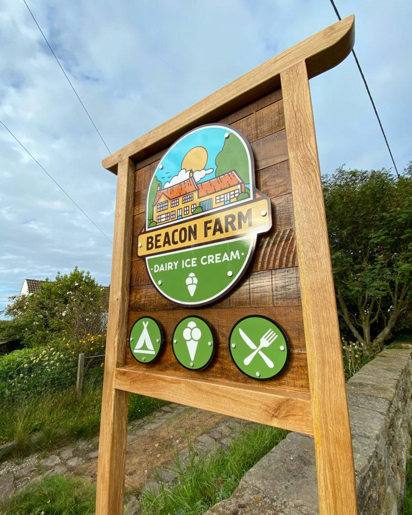 Beacon Farm Welcome Sign