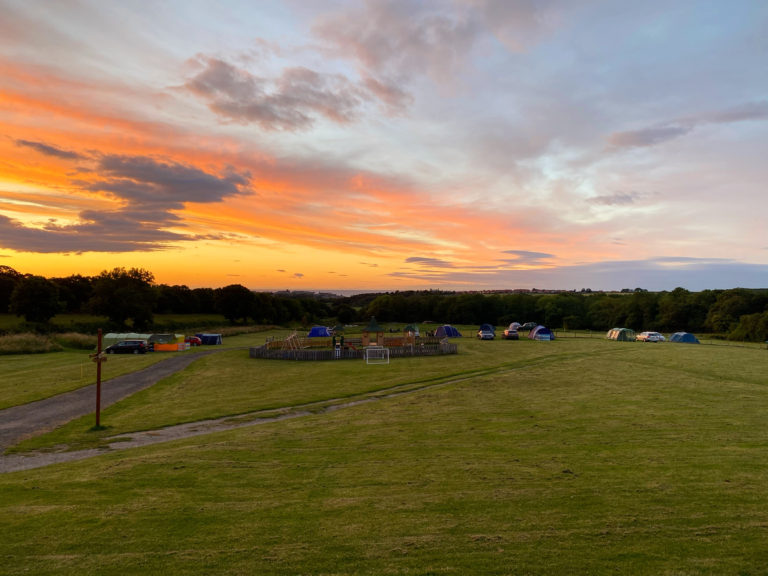 Sunrise on the campsite