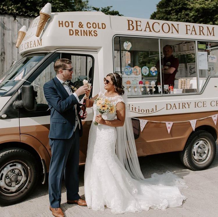 Ice Cream Van Hire for Weddings | Beacon Farm Ice Cream